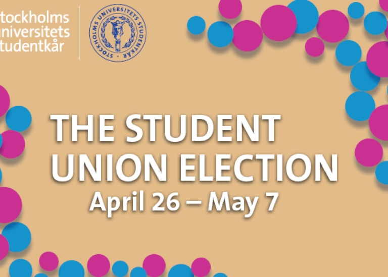 Banner for student union election 2021.