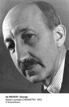 George de Hevesy received the 1943 Nobel Prize in Chemistry